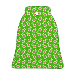 Square Flowers Green Ornament (bell)
