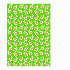 Square Flowers Green Small Garden Flag (two Sides)
