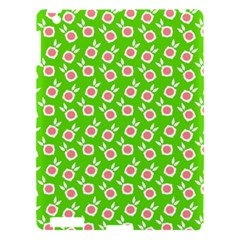 Square Flowers Green Apple Ipad 3/4 Hardshell Case