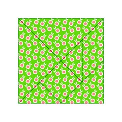 Square Flowers Green Acrylic Tangram Puzzle (4  X 4 )