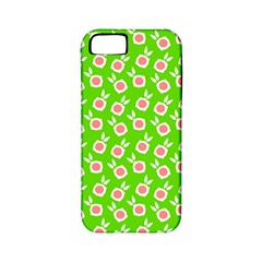 Square Flowers Green Apple Iphone 5 Classic Hardshell Case (pc+silicone)