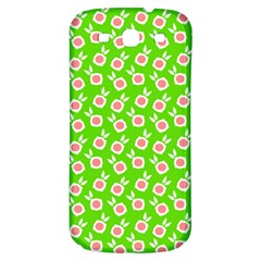 Square Flowers Green Samsung Galaxy S3 S Iii Classic Hardshell Back Case