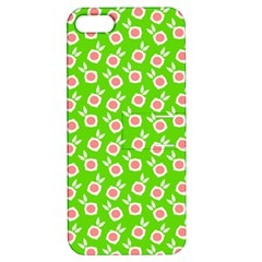 Square Flowers Green Apple Iphone 5 Hardshell Case With Stand