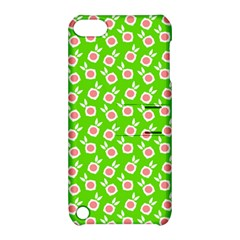 Square Flowers Green Apple Ipod Touch 5 Hardshell Case With Stand