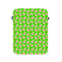 Square Flowers Green Apple Ipad 2/3/4 Protective Soft Cases