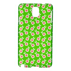 Square Flowers Green Samsung Galaxy Note 3 N9005 Hardshell Case