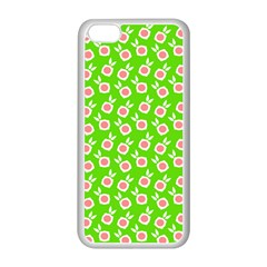 Square Flowers Green Apple Iphone 5c Seamless Case (white)