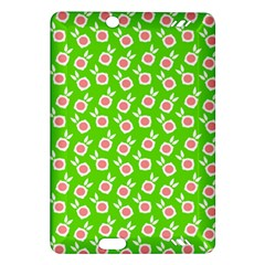 Square Flowers Green Amazon Kindle Fire Hd (2013) Hardshell Case