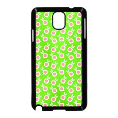 Square Flowers Green Samsung Galaxy Note 3 Neo Hardshell Case (black)