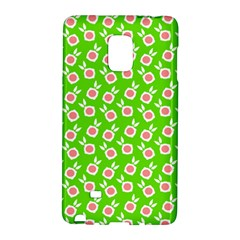 Square Flowers Green Galaxy Note Edge
