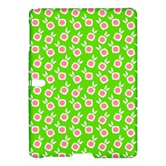 Square Flowers Green Samsung Galaxy Tab S (10 5 ) Hardshell Case