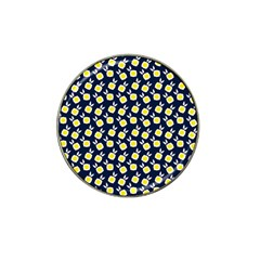 Square Flowers Navy Blue Hat Clip Ball Marker (4 Pack)