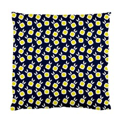 Square Flowers Navy Blue Standard Cushion Case (one Side)