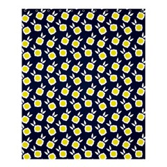 Square Flowers Navy Blue Shower Curtain 60  X 72  (medium)