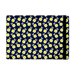 Square Flowers Navy Blue Apple Ipad Mini Flip Case