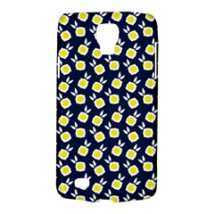 Square Flowers Navy Blue Galaxy S4 Active