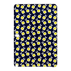 Square Flowers Navy Blue Samsung Galaxy Tab Pro 12 2 Hardshell Case
