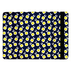 Square Flowers Navy Blue Samsung Galaxy Tab Pro 12 2  Flip Case