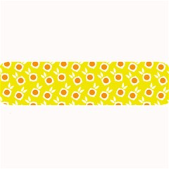 Square Flowers Yellow Large Bar Mats