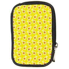 Square Flowers Yellow Compact Camera Cases