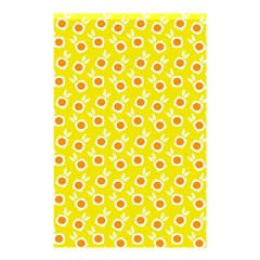 Square Flowers Yellow Shower Curtain 48  X 72  (small)