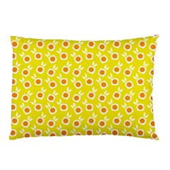 Square Flowers Yellow Pillow Case (two Sides)