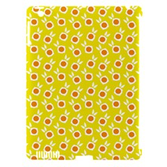Square Flowers Yellow Apple Ipad 3/4 Hardshell Case (compatible With Smart Cover)