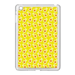 Square Flowers Yellow Apple Ipad Mini Case (white)