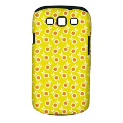 Square Flowers Yellow Samsung Galaxy S Iii Classic Hardshell Case (pc+silicone)