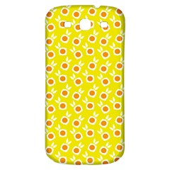 Square Flowers Yellow Samsung Galaxy S3 S Iii Classic Hardshell Back Case