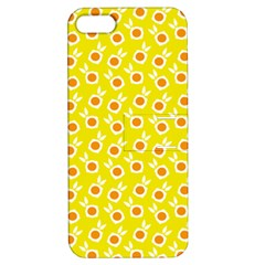 Square Flowers Yellow Apple Iphone 5 Hardshell Case With Stand