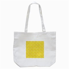 Square Flowers Yellow Tote Bag (white)