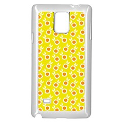 Square Flowers Yellow Samsung Galaxy Note 4 Case (white)