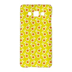 Square Flowers Yellow Samsung Galaxy A5 Hardshell Case