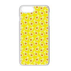 Square Flowers Yellow Apple Iphone 7 Plus Seamless Case (white)