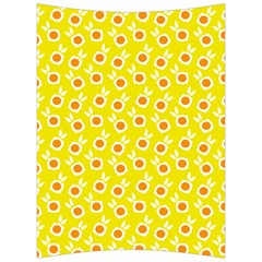 Square Flowers Yellow Back Support Cushion