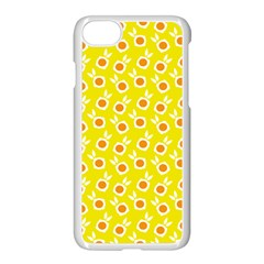 Square Flowers Yellow Apple Iphone 8 Seamless Case (white)