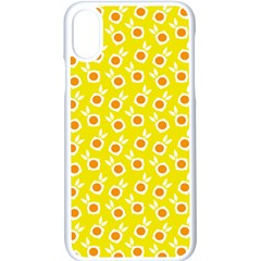 Square Flowers Yellow Apple Iphone X Seamless Case (white)