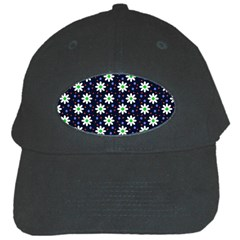 Daisy Dots Navy Blue Black Cap