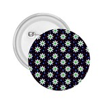 Daisy Dots Navy Blue 2.25  Buttons Front