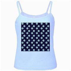 Daisy Dots Navy Blue Baby Blue Spaghetti Tank
