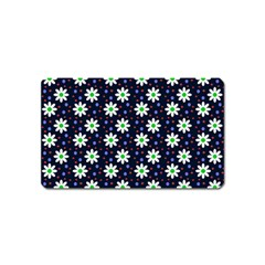 Daisy Dots Navy Blue Magnet (name Card)