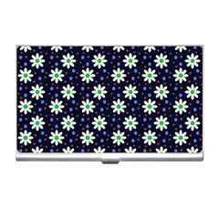 Daisy Dots Navy Blue Business Card Holders