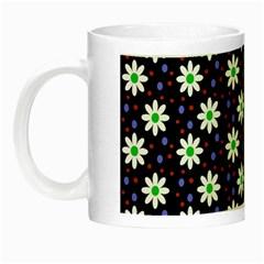 Daisy Dots Navy Blue Night Luminous Mugs