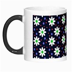 Daisy Dots Navy Blue Morph Mugs