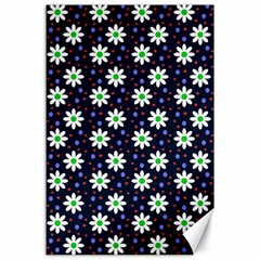 Daisy Dots Navy Blue Canvas 24  X 36
