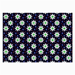 Daisy Dots Navy Blue Large Glasses Cloth (2 Side)