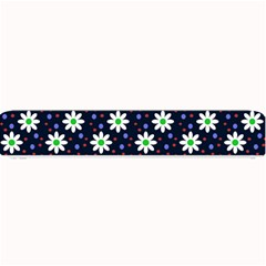 Daisy Dots Navy Blue Small Bar Mats