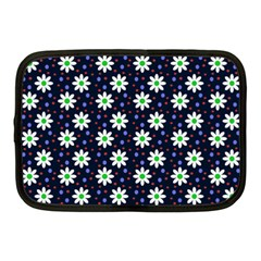 Daisy Dots Navy Blue Netbook Case (medium)