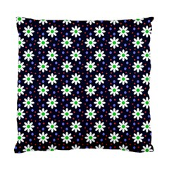 Daisy Dots Navy Blue Standard Cushion Case (one Side)